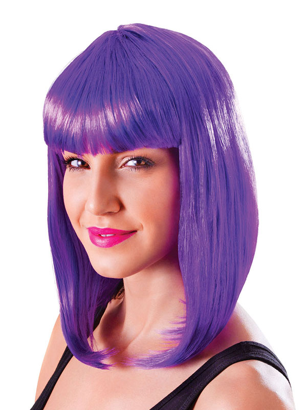 Adult Ladies Chic Doll Neon Purple Wig