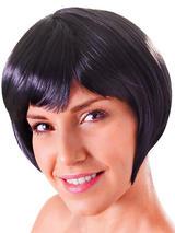 Adult Ladies Flirty Flick Black Wig
