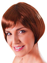 Adult Ladies Flirty Flick Brown Wig