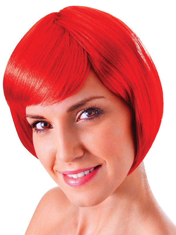 Adult Ladies Flirty Flick Red Wig