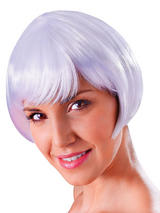Adult Ladies Flirty Flick White Wig