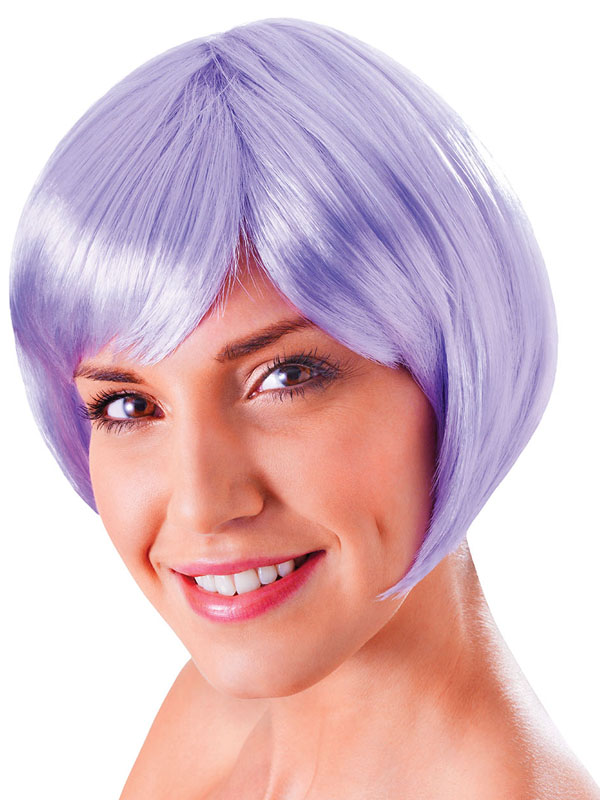 Adult Ladies Flirty Flick Lilac Wig