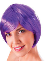 Adult Ladies Flirty Flick Neon Purple Wig