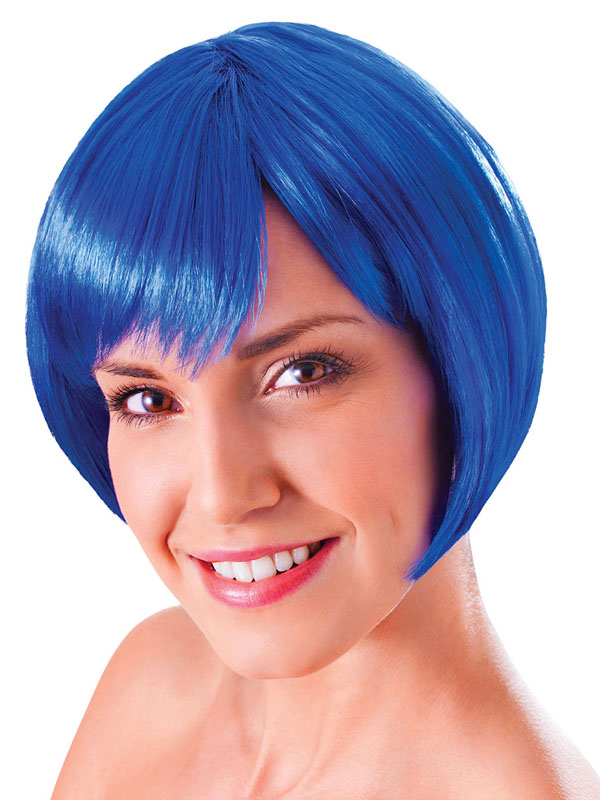 Adult Ladies Flirty Flick Blue Wig