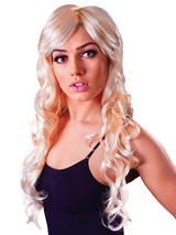 Adult Ladies Vixen Wavy Blonde Wig