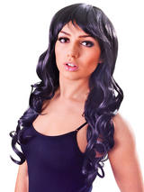 Adult Ladies Wavy Black Vixen Wig