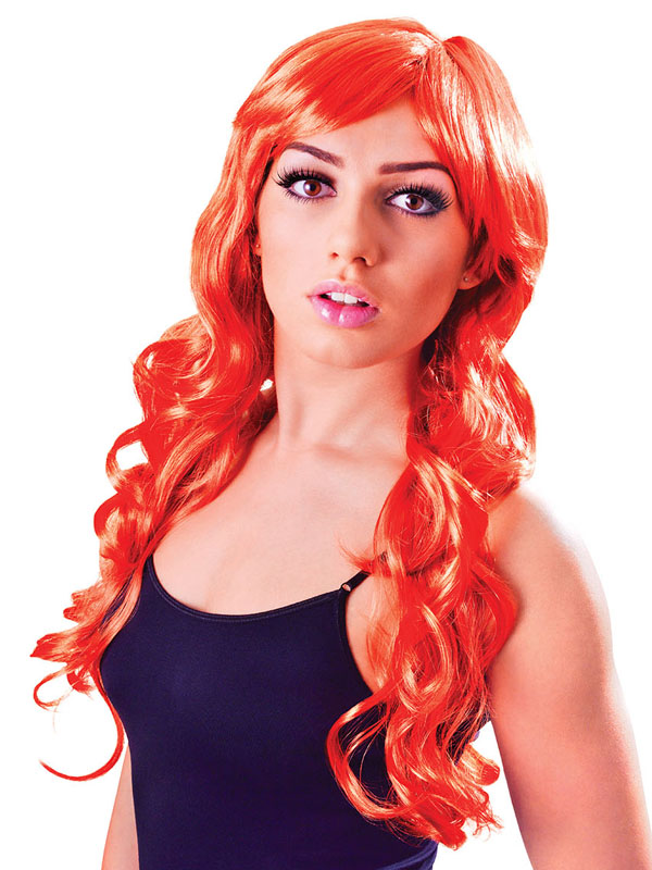 Adult Ladies Vixen Wavy Burnt Orange Wig