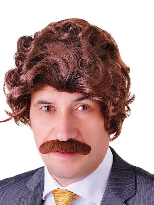 Adult Mens Anchorman + Tash Set Wig