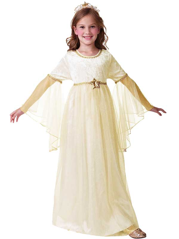 Child 3-10 Years Ivory Angel Fairy Christmas Outfit Fancy Dress ...