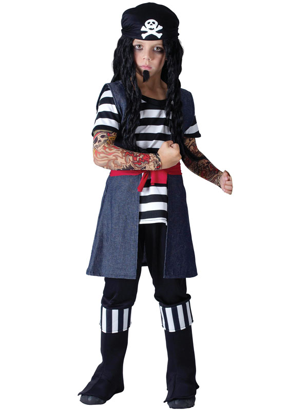 Tatuaje-Pirata-Chicos-Nino-Fancy-Dress-Costume-3-10-Anos-Ninos-Nueva-Jack-Sparrow