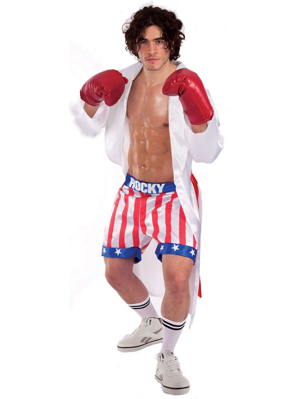 Adult Mens Official Rocky Balboa Film Boxer Fighter Fancy Dress Costume Outfit  sc 1 st  Plymouth Fancy Dress & Adult Mens Official Rocky Balboa Film Boxer Fighter Fancy Dress ...