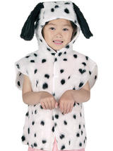 Child Dalmation Fur Tabard Costume