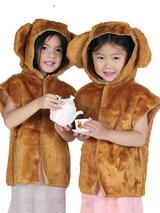 Child Bear Fur Tabard Costume