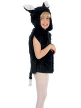 Child Cat Fur Tabard Costume Charlie Crow