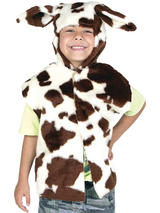 Child Cow Fur Tabard Costume