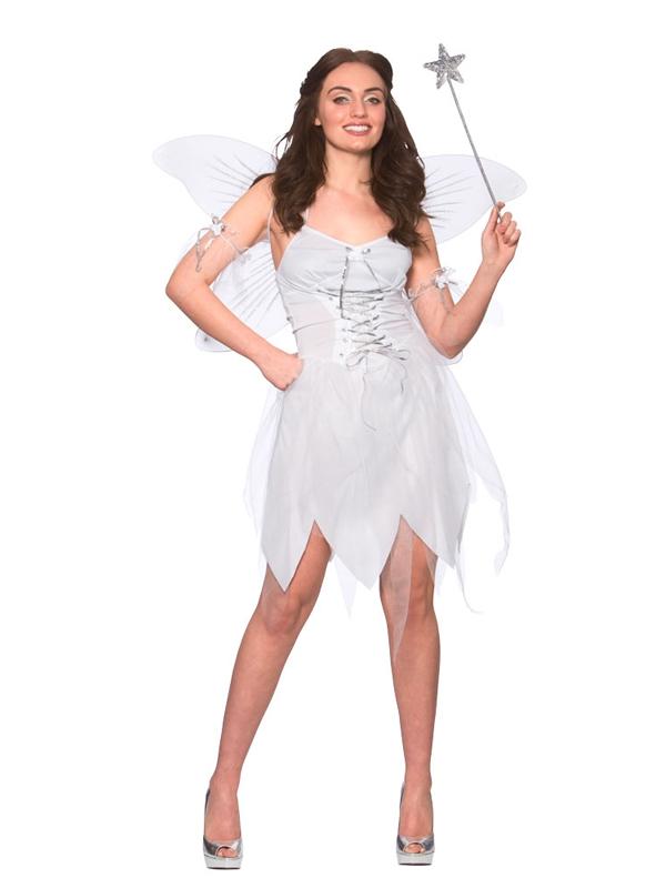 Buona Fata Adulti Signore Costume Halloween Natale Natività UK 6-20