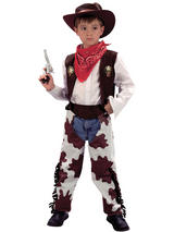 Child Cowboy Costume Cowprint Chaps