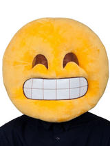 Adult Fabric Overhead Emoticon Grin Mask