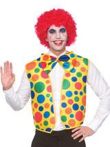 Mens Clown Waistcoat & Bow Tie