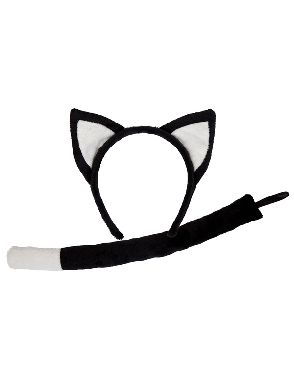 Animal Ears & Tail Black Cat