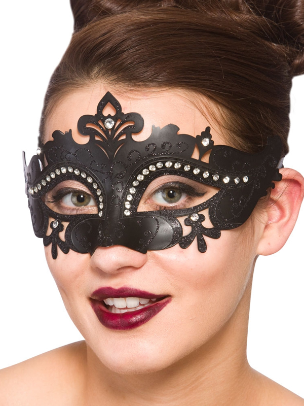 Adult Ladies Demonte Eye Mask Black