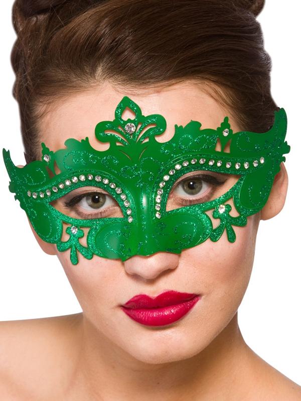 Adult Ladies Demonte Eye Mask Green
