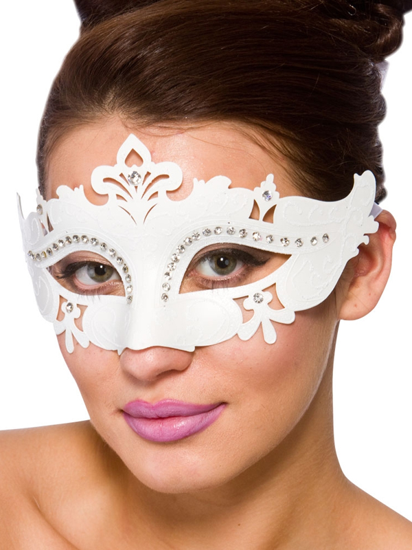 Adult Ladies Demonte Eye Mask White