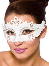 Adult Ladies Demonte Eye Mask White