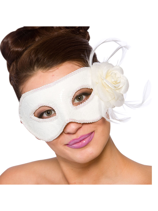 Adult Ladies Lariano Eye Mask White