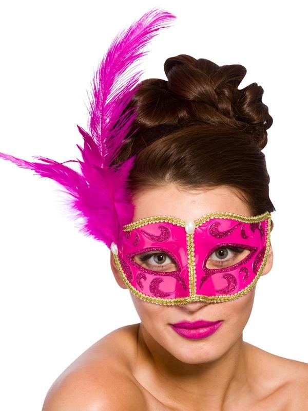 Adult Ladies Bellini Eye Mask Pink & Gold