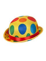 Adult Mens Bowler Clown Hat