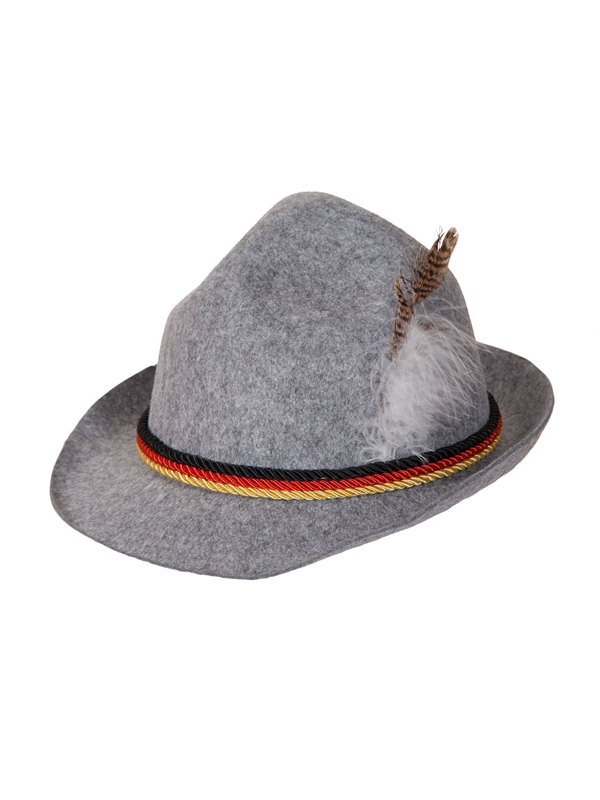 Adult Grey Oktoberfest Hat