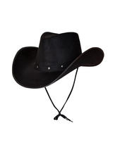 Adult Texas Cowboy Mens Ladies Wild West Stud Fancy Dress Western Hat Black New