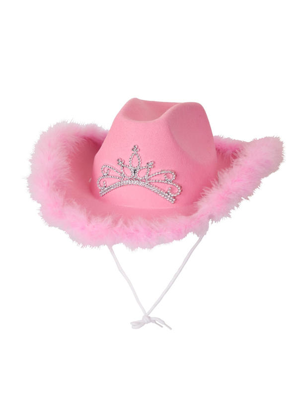 Pink Cowgirl Hat With Marabou Feather