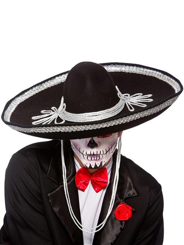 Adult Mens Sombrero Black