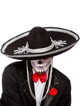 Adult Mens Sombrero Black