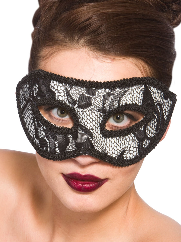 Adult Ladies Lucia Eye Mask Black