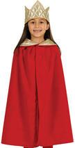 Child Nativity Cloak King. Red Costume