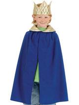 Child Nativity Cloak King. Blue Costume