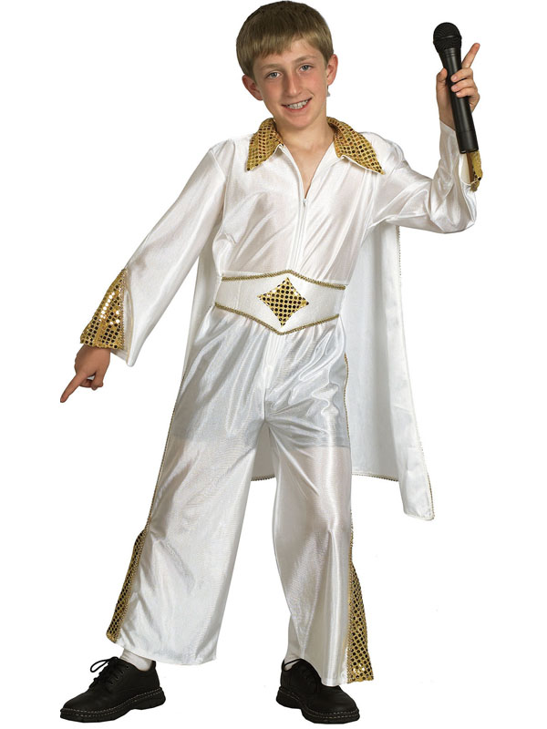 Child Elvis Presley Costume Rock N Roll Pop Star King Boys Fancy Dress Outfit | New | Plymouth ...