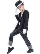 Child Superstar Black Jacket Trousers Costume