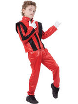 Child Superstar Red Jacket Trousers Costume
