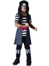 Child Tattoo Pirate Boy Costume