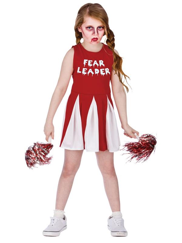 Zombie Cheerleader Halloween Costume For Girls.Details About Fear Leader Girls Zombie Cheerleader Fancy Dress Halloween Childs Kids Costume