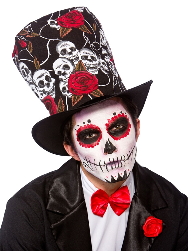 Adult Day of The Dead Top Hat