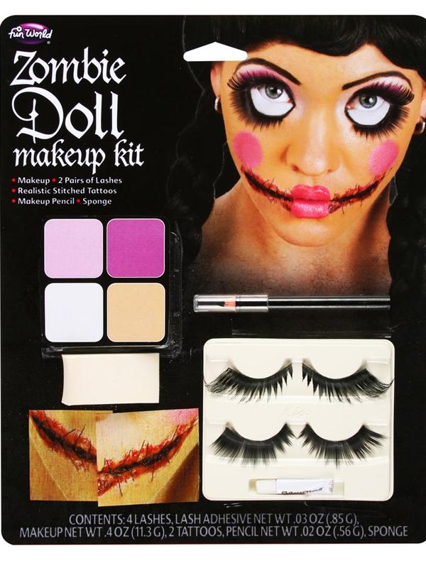 Ladies Zombie Doll Makeup Kit