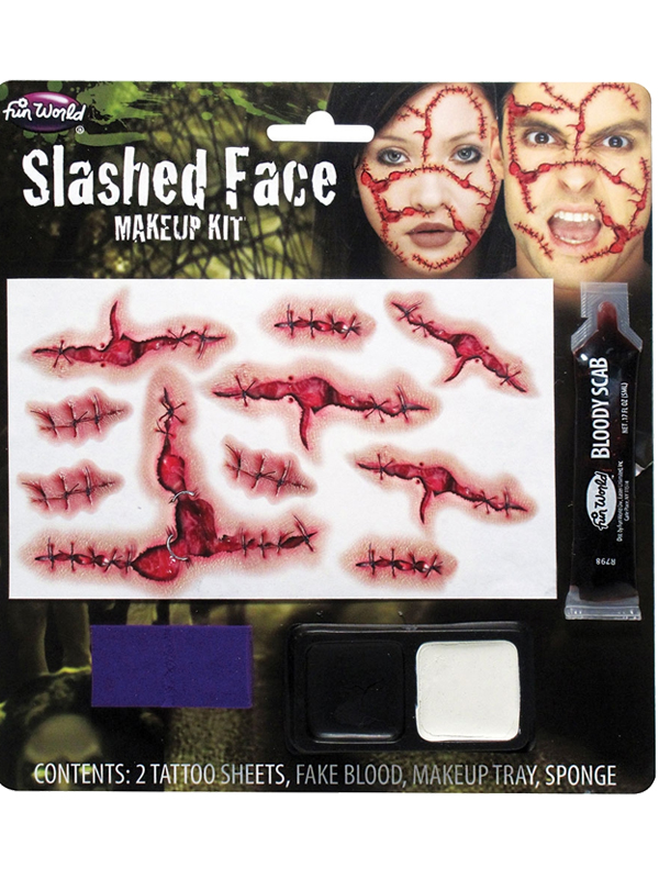 Slashed Face Makeup Kit