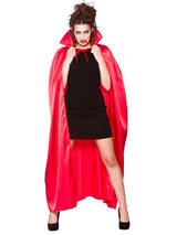 Deluxe Red Satin Cape With Collar