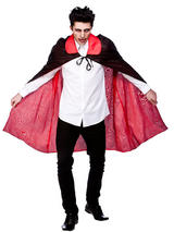 Reversable Satin Cape With Collar
