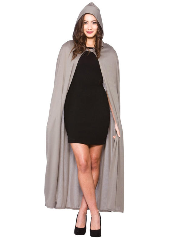 Grey Cape With Hood Adult Thumbnail 2